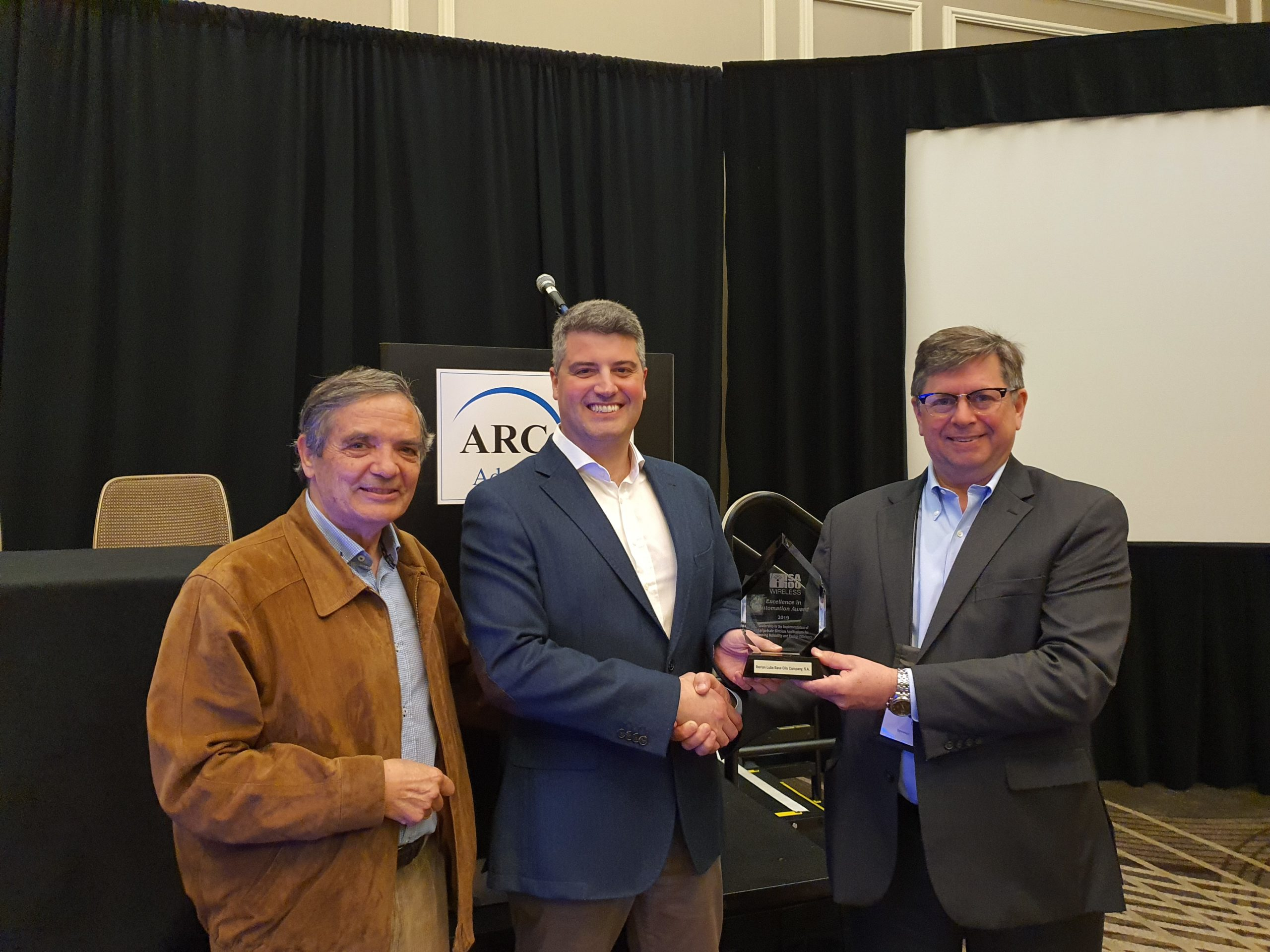 2019 ISA100 Wireless Excellence in Automation award